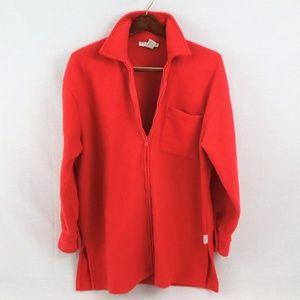 90s NY Jeans Co Fleece Zip Jacket Red